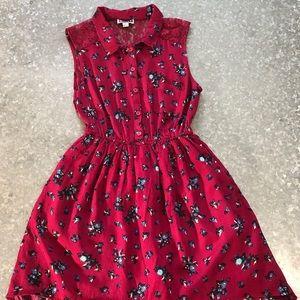 Roxy Red Flower Print Dress! SZ M